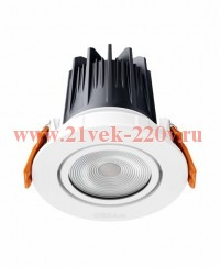 LDV DOWNLIGHT M WT 830 L12 13.5W 220-240V 3000K 680lm 50000ч  I103xd80 Белый