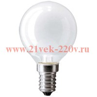 Лампа накаливания DECOR P45 CL (МАТОВАЯ) 10W E27 WHITE (230V) FOTON LIGHTING (S105)