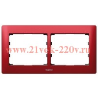 Рамка 2п гор Magic Red GL LEGRAND